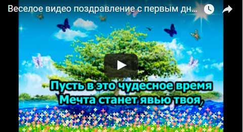 Веселое видео поздравление с первым днем лета