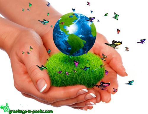 Открытка с Днем защиты Земли