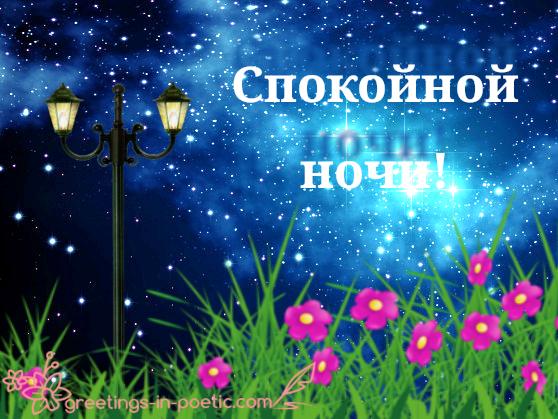 Спокойной ночи! Звезд огни…