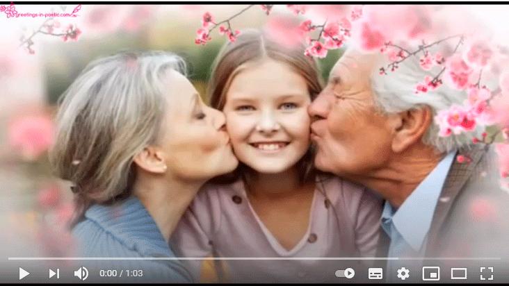 Видео поздравление внучке с днём рождения