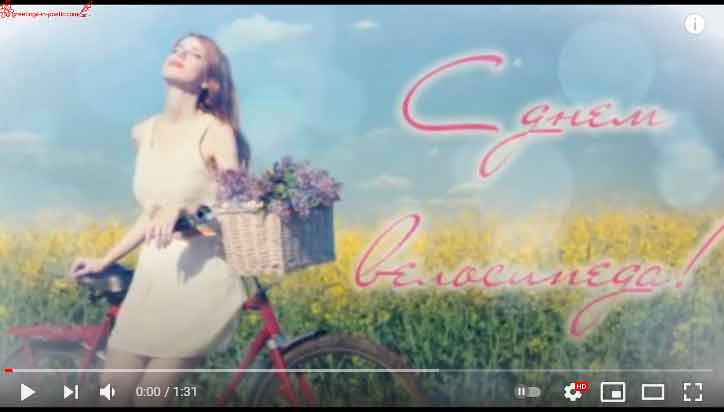 Песня под гитару «С днём велосипеда»